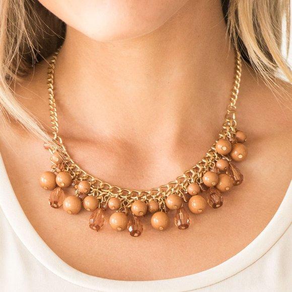 Tour de Trendsetter Brown Necklace